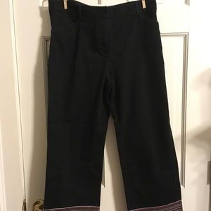 Geoffrey Beene Black Pants with Striped Bottoms